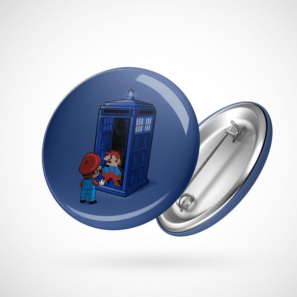 Botton Button Geek Mario Doctor Who