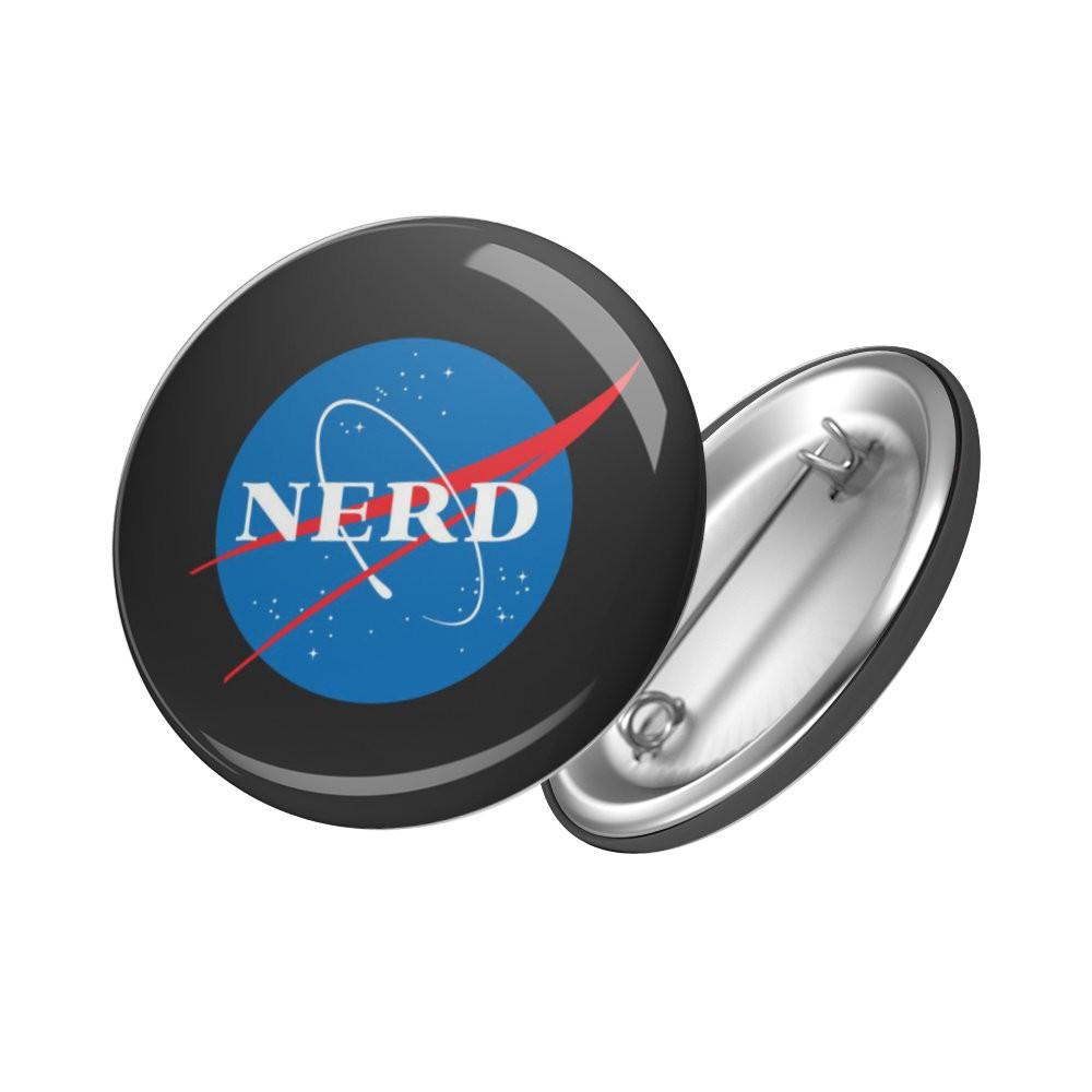 Botton Nerd NASA - 6X6