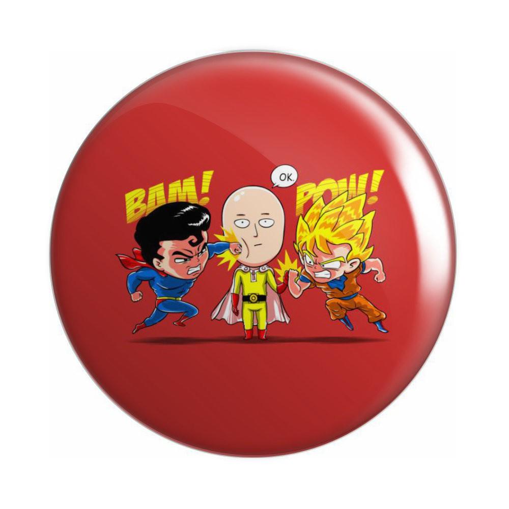 Botton Superman e Goku vs Saitama - 6X6