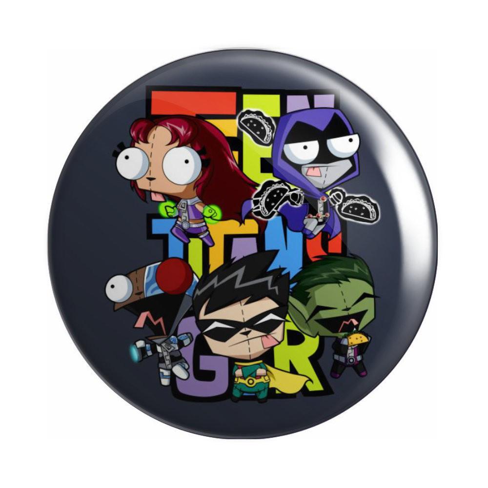 Botton Jovens Titãs - DC Teen Titans Go! - 6X6