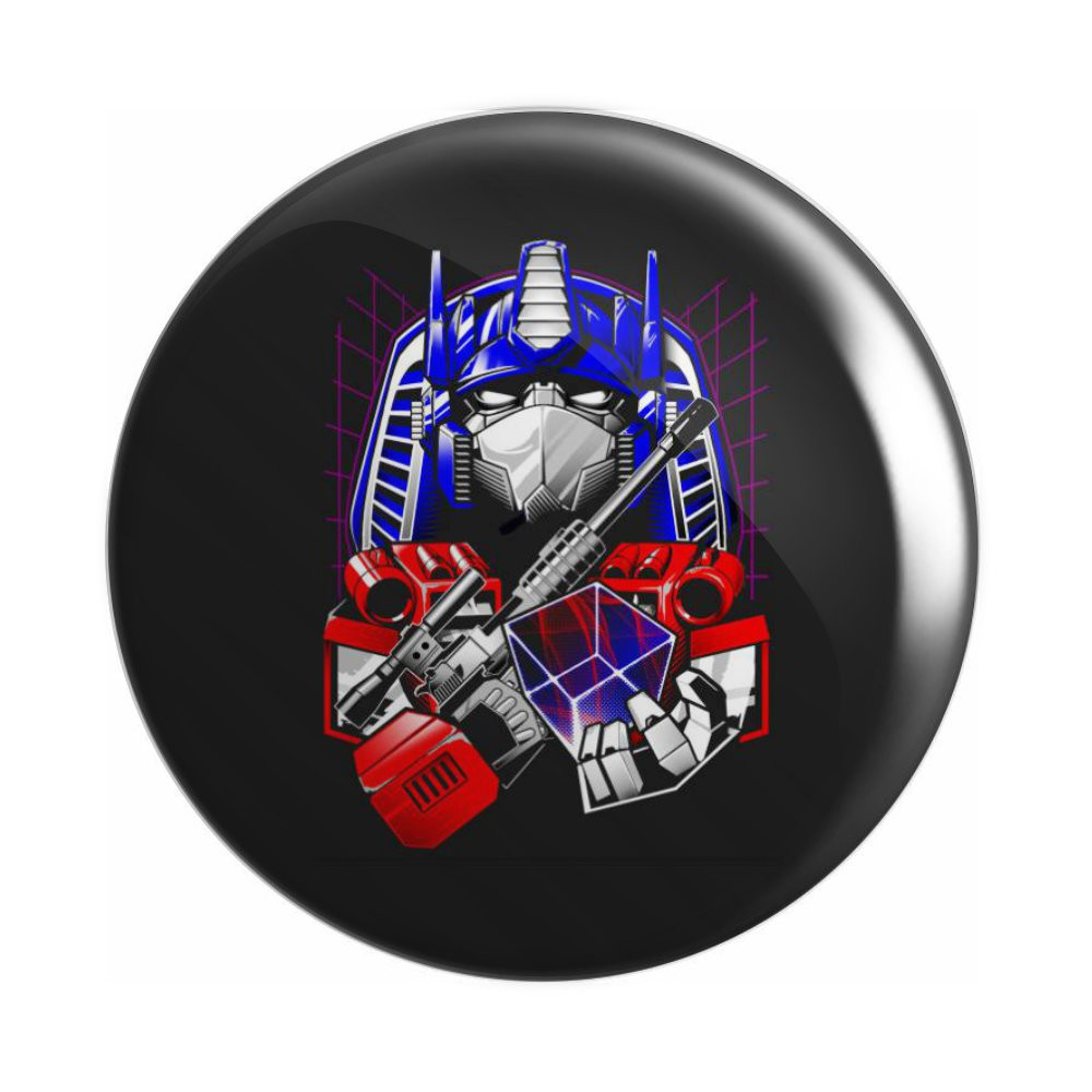 Botton Optimus Prime - Transformers - 6X6