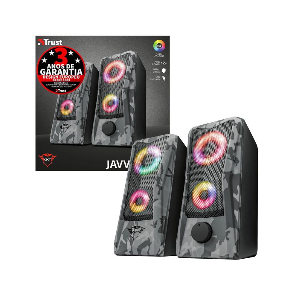 Caixa de som Gamer Trust GXT 606 Javv RGB