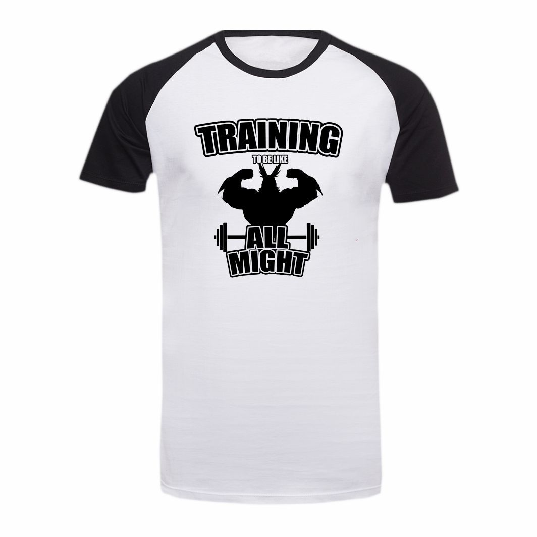 Camisa Geek Boku no Hero Training to be Like All Mighty - G Adulto