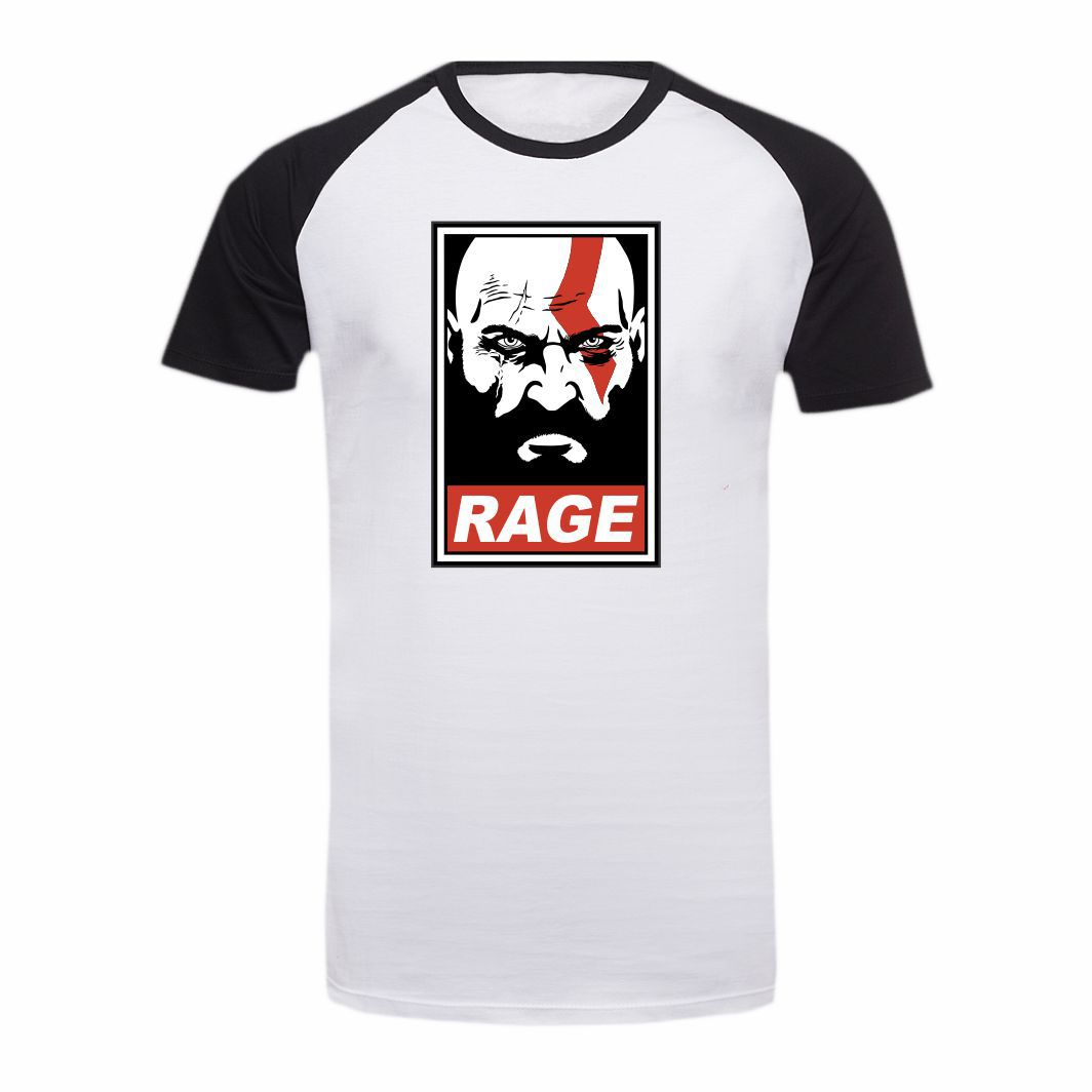 Camisa Geek God of War RAGE - M Adulto