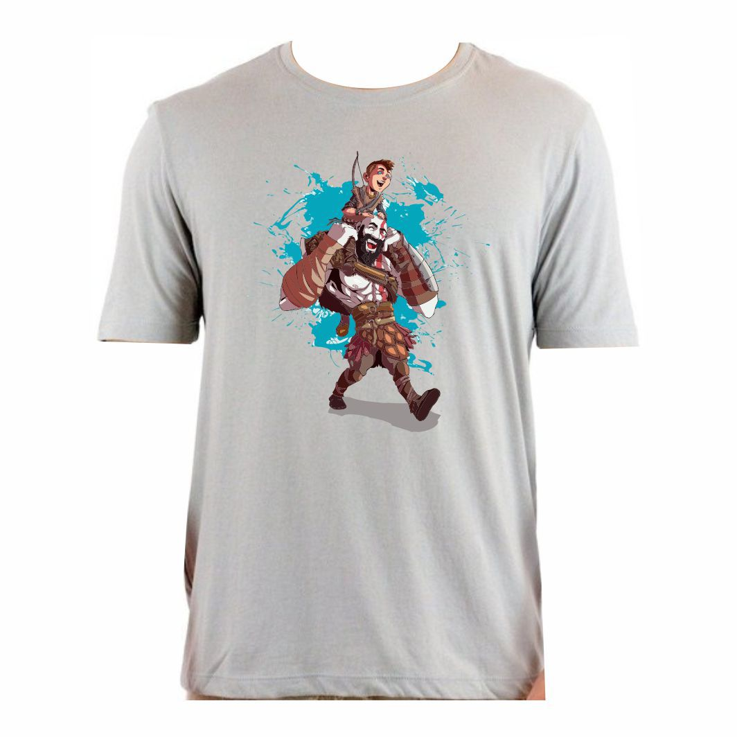 Camisa Geek Kratos e Atreus - P Adulto