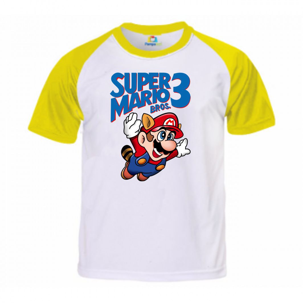 Camisa Super Mario Bros 3 - Super Mario - G Adulto