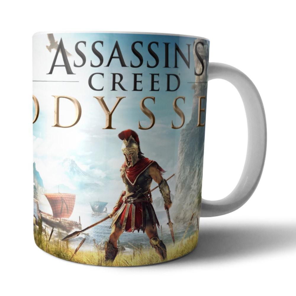 Caneca Cerâmica Branca Assassin's Creed Odyssey - 350ML