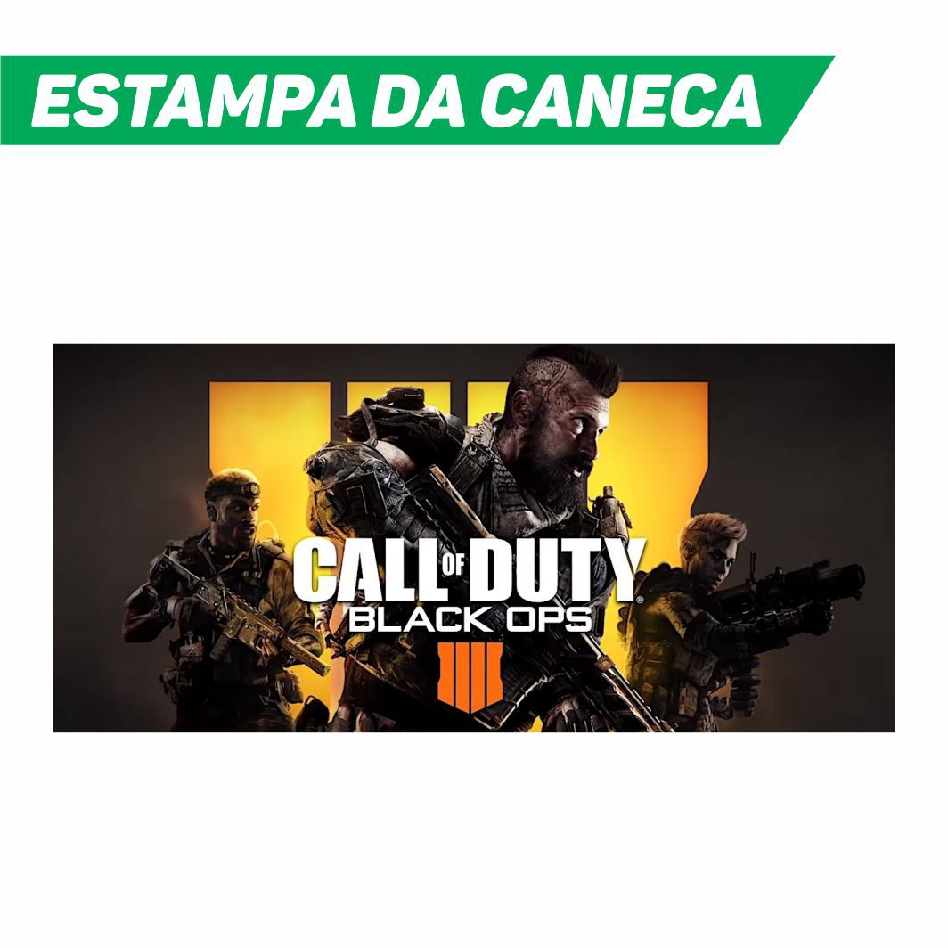 Caneca Cerâmica Branca Call of Duty Black Ops 4