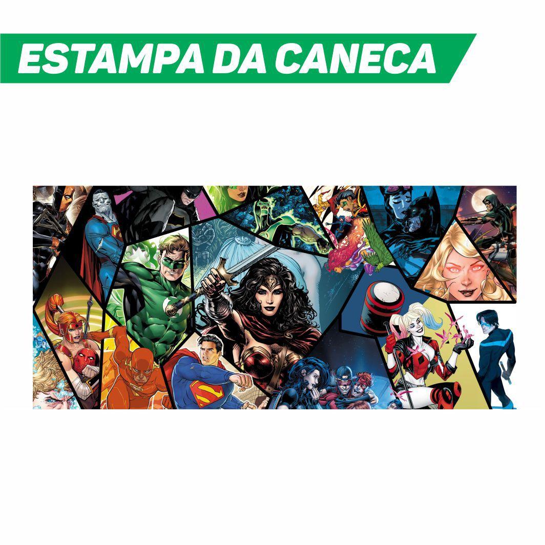 Caneca Cerâmica Branca DC Comics