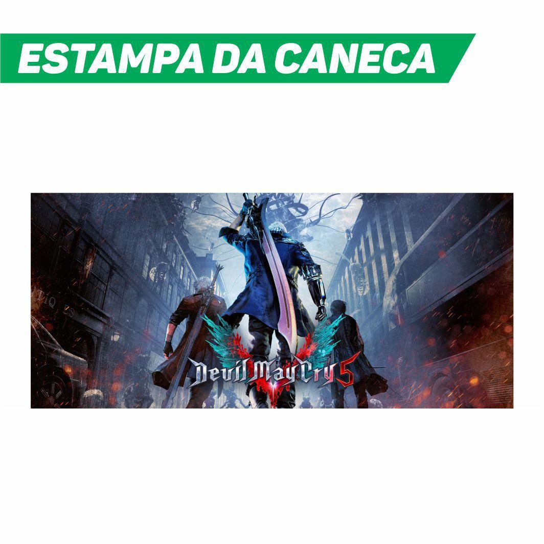 Caneca Cerâmica Branca DMC Devil May Cry 5