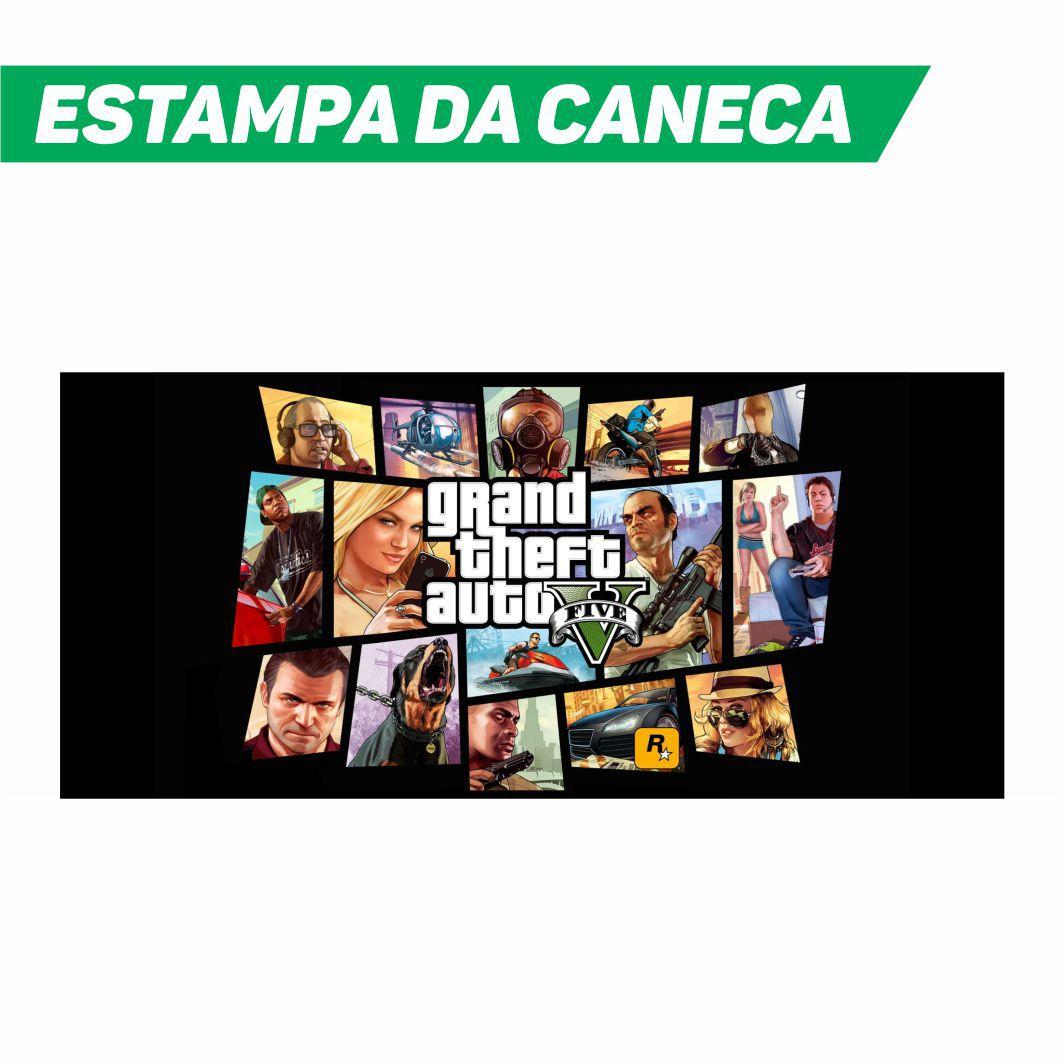 Caneca Cerâmica Branca Grand Theft Auto GTA V