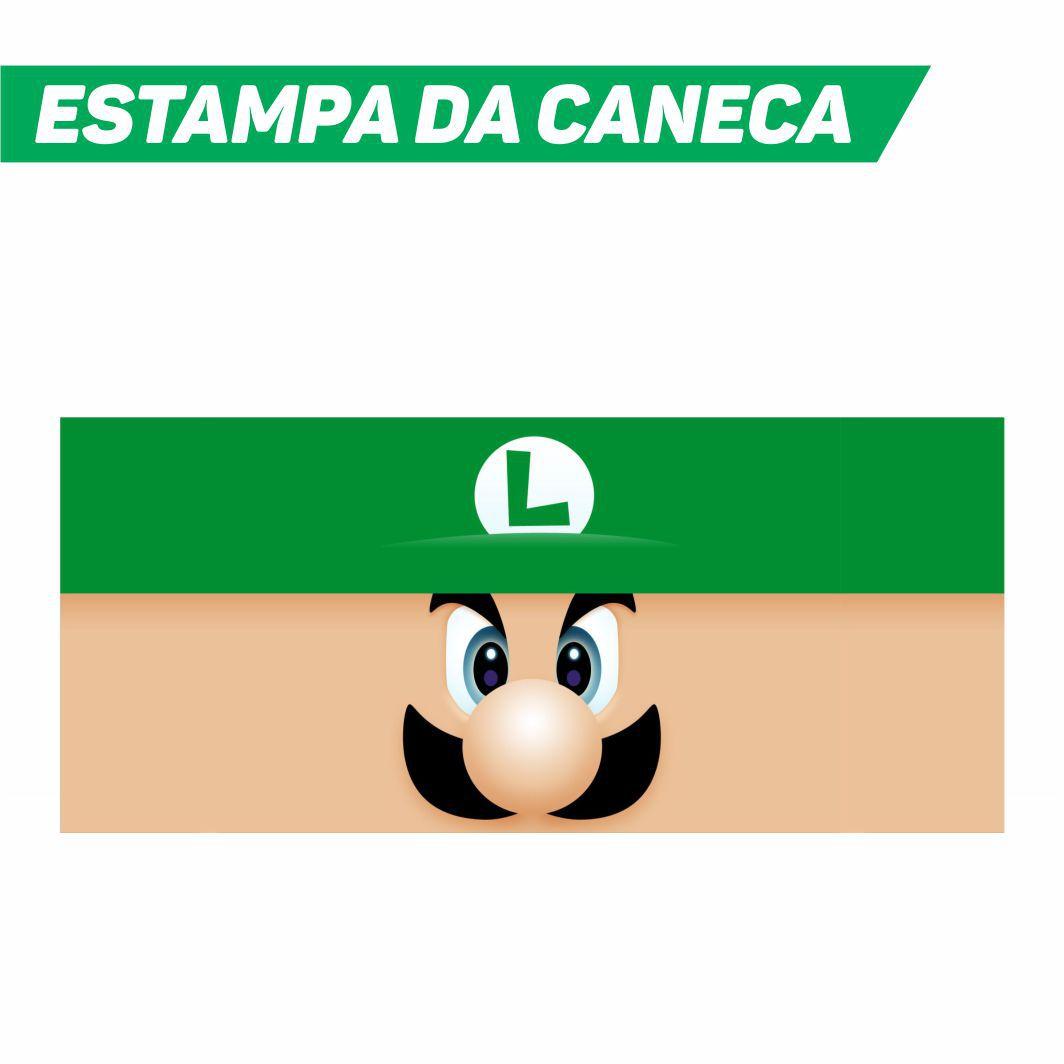 Caneca Cerâmica Branca Luigi