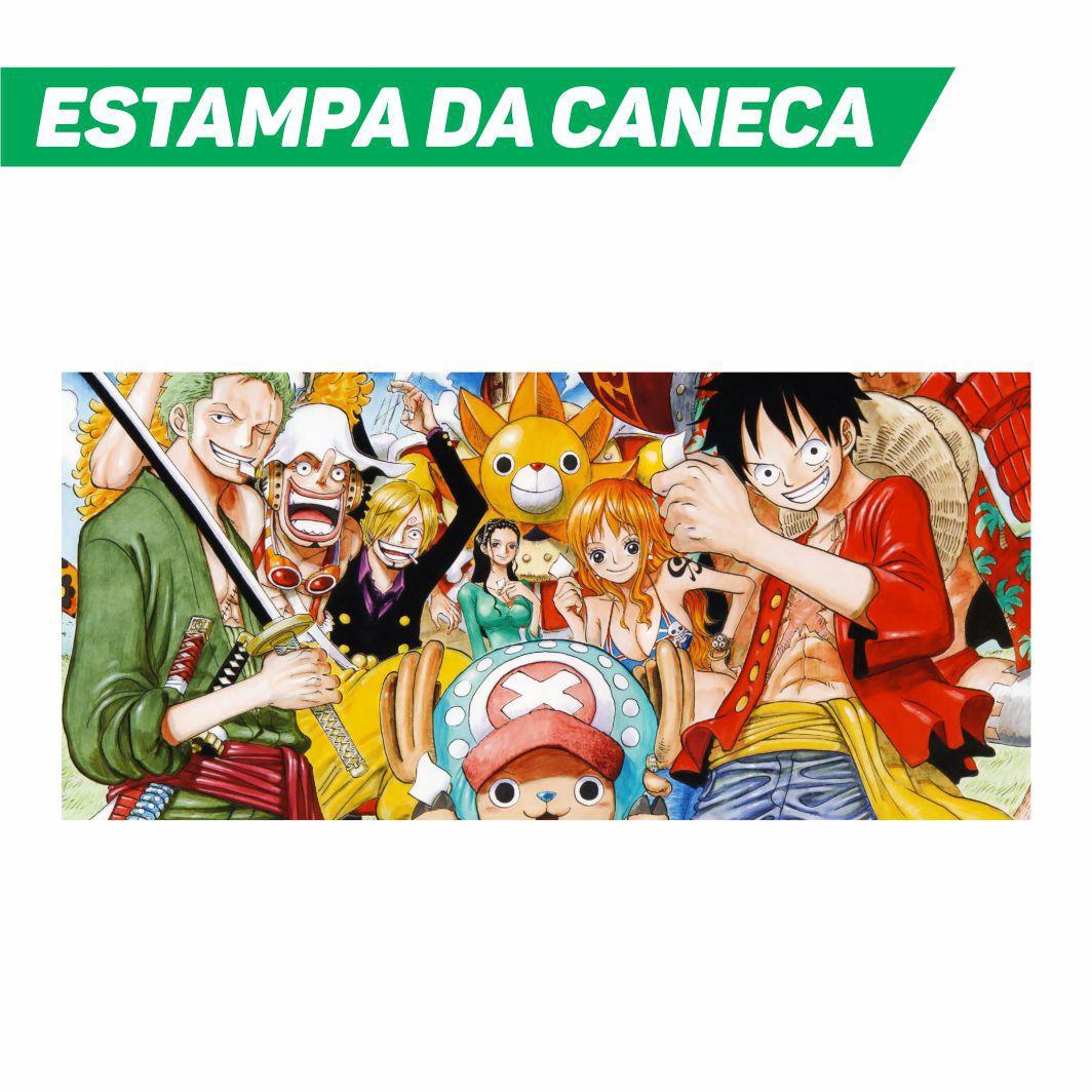 Caneca Cerâmica Branca One Piece