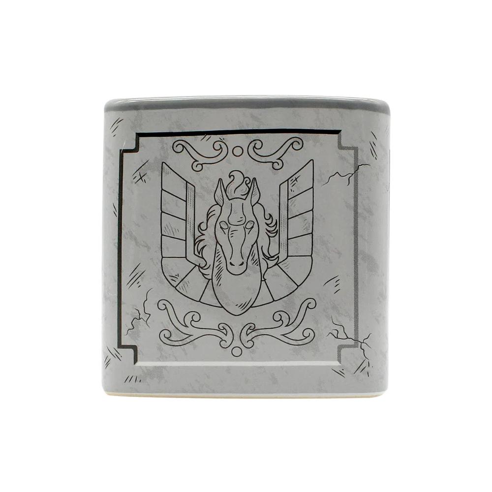Caneca Cerâmica Cubo Urna de Pégaso - Cavaleiros do Zodíaco  - 300ML
