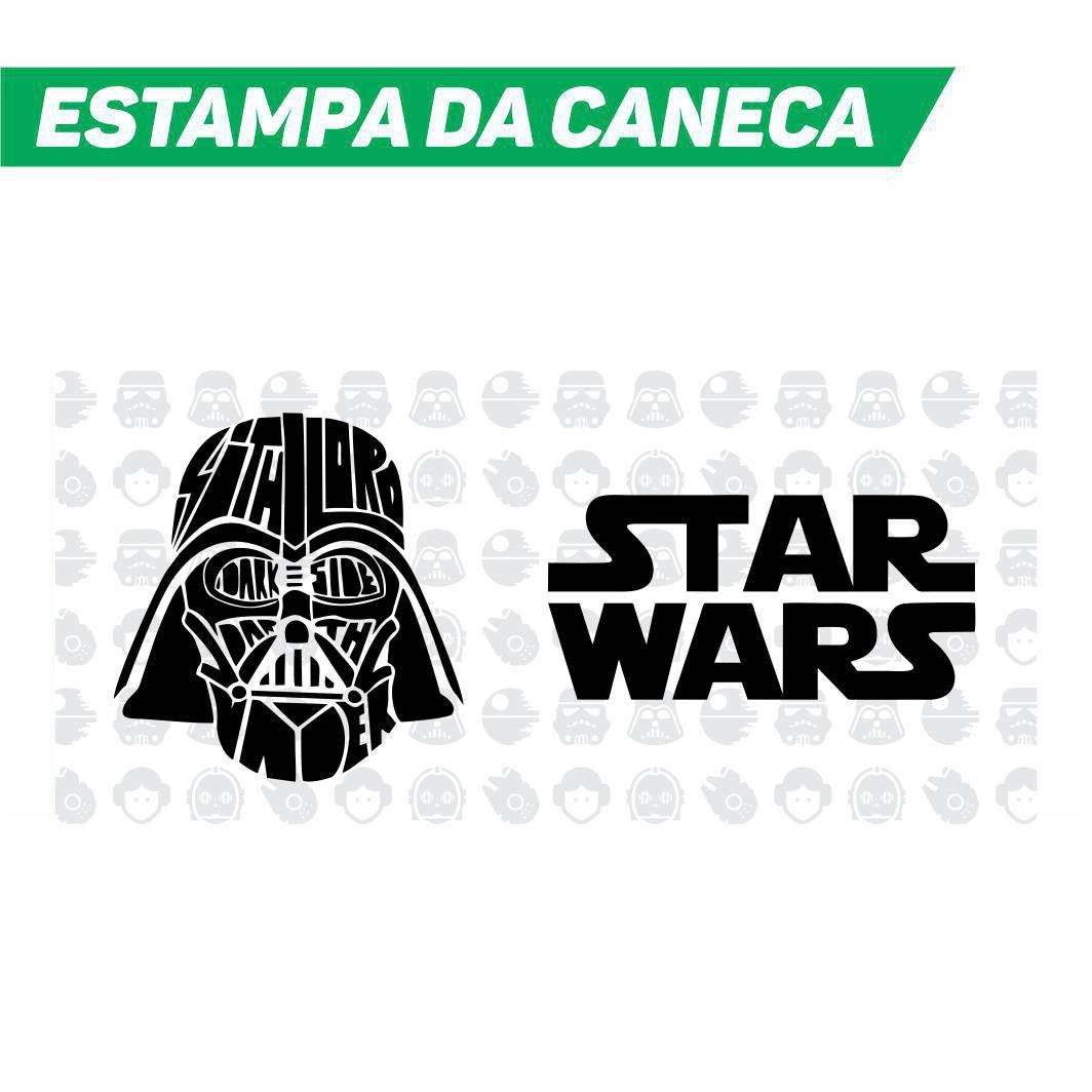 Caneca Cerâmica Dourada Star Lord - Star Wars - 350ML