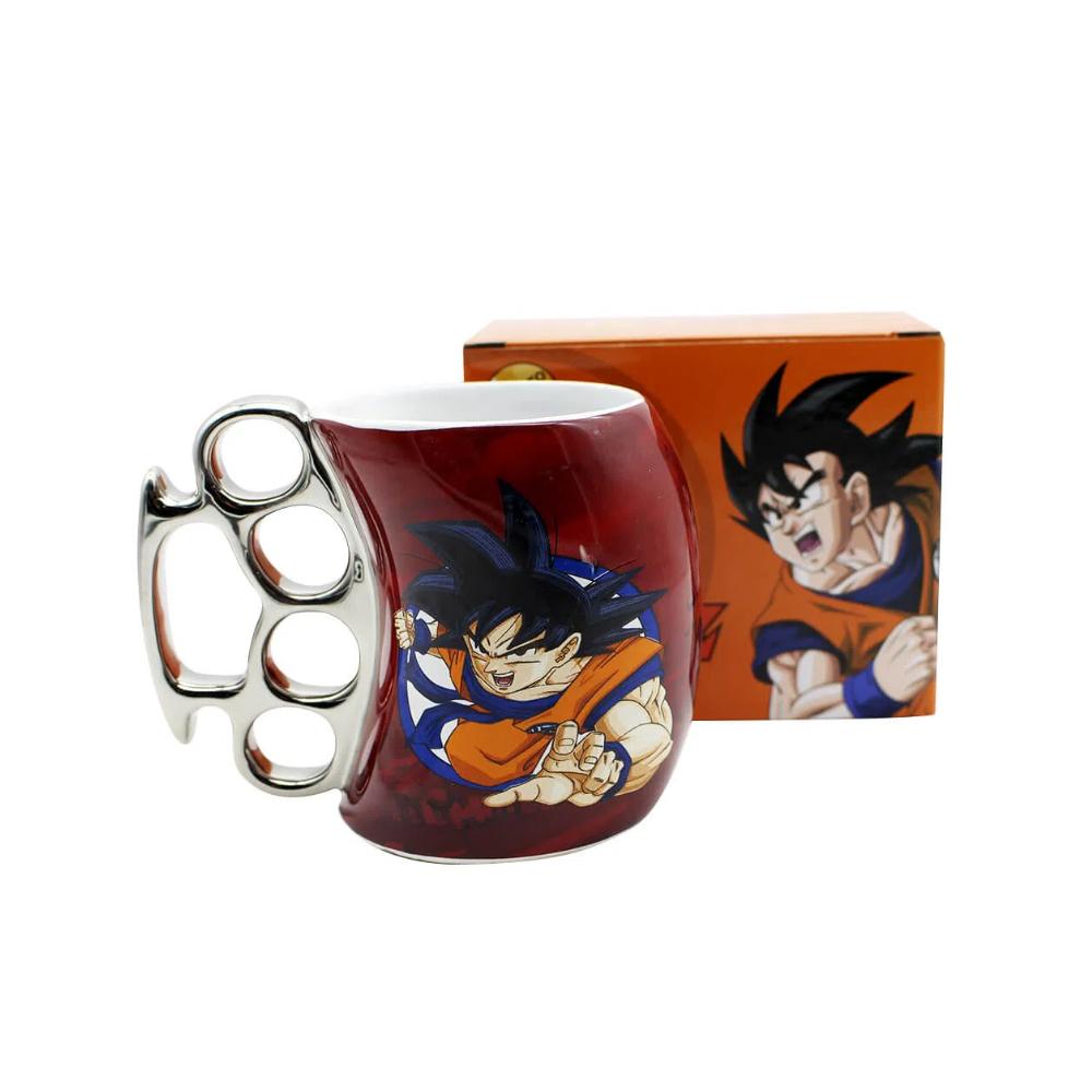 Caneca Cerâmica Soco Inglês Goku Rage - Dragon Ball - 350mL
