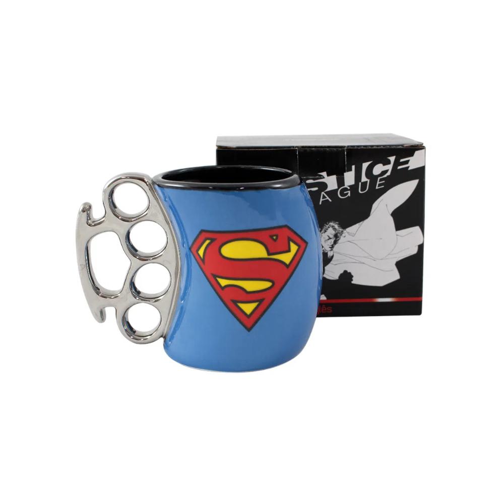 Caneca Cerâmica Soco Inglês Superman - DC Comics - 350mL