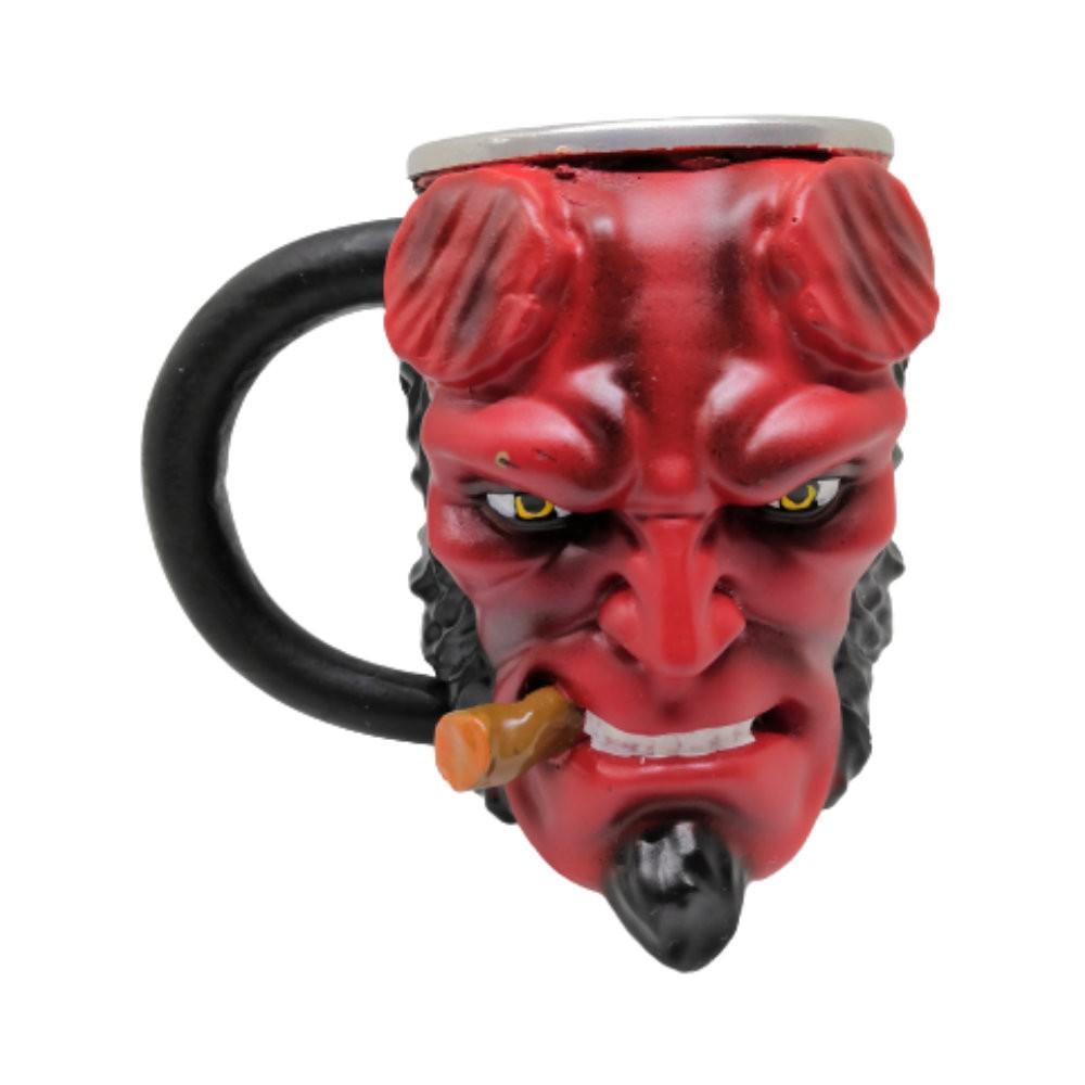 Caneca Alumínio Resina 3D Hellboy - 250ML