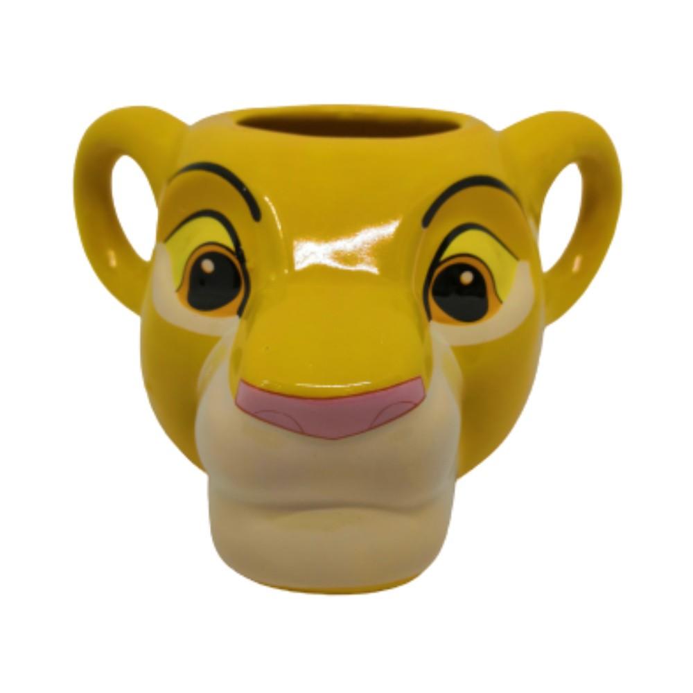 Caneca Cerâmica Formato 3D Simba - Rei Leão - 350mL