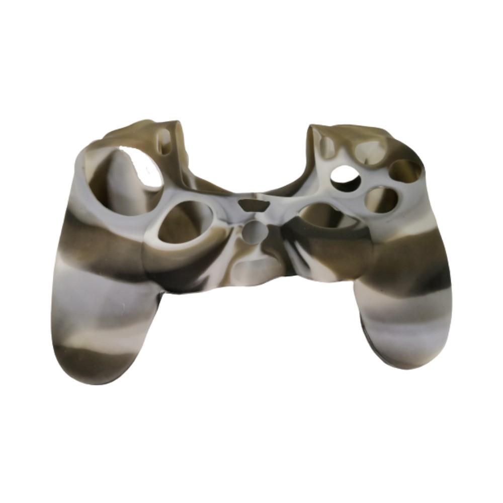 Capa de Silicone para Controle PS4 - Cinza, Marrom e Branco