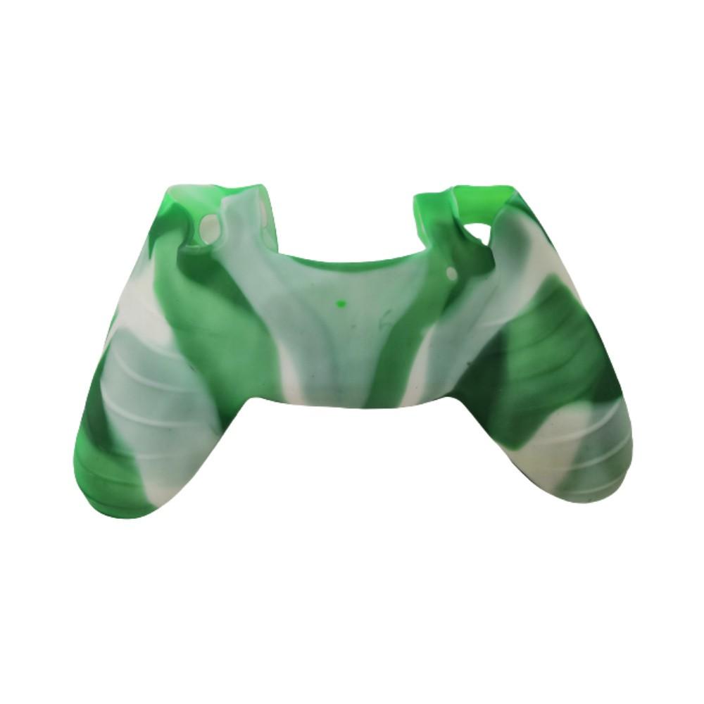 Capa de Silicone para Controle PS4 - Verde e Branco