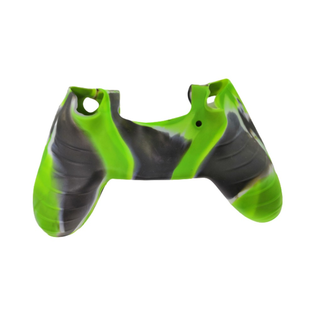 Capa de Silicone para Controle PS4 - Verde, Preto e Branco