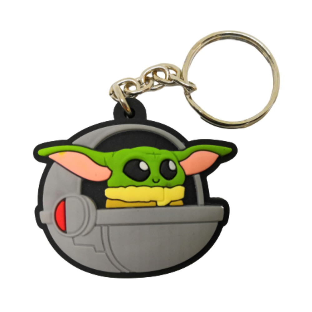 Chaveiro Emborrachado Baby Yoda - Star Wars - 5CM