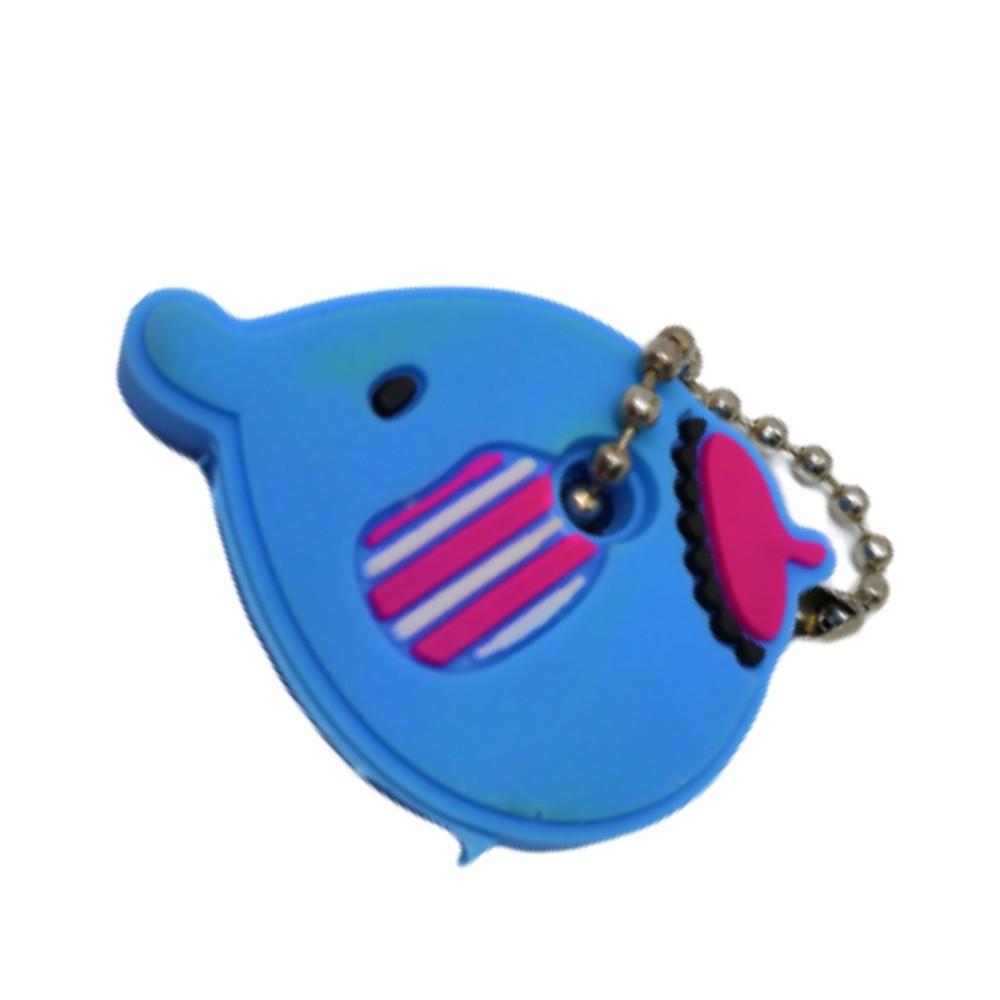 Chaveiro Capa de Chave Elefante Azul - 4CM
