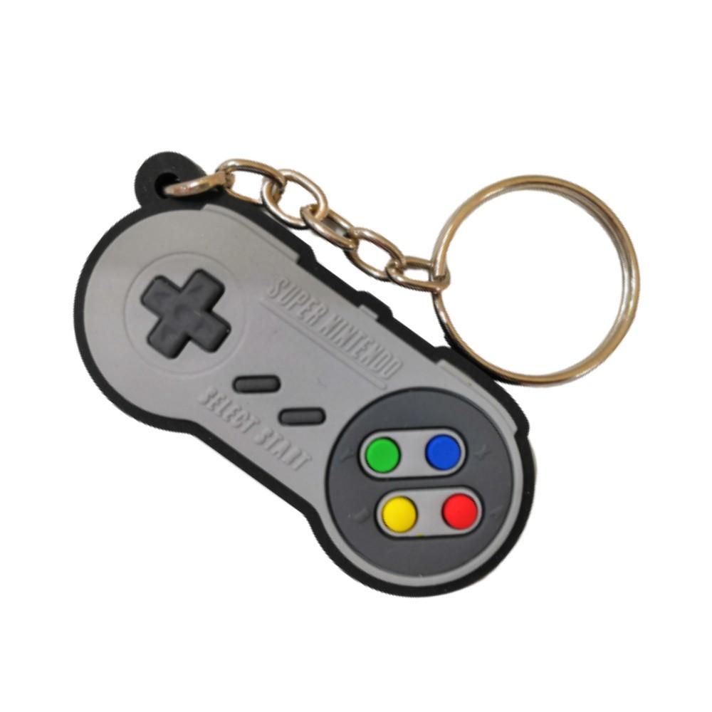 Chaveiro Emborrachado Controle - Super Nintendo - 5CM