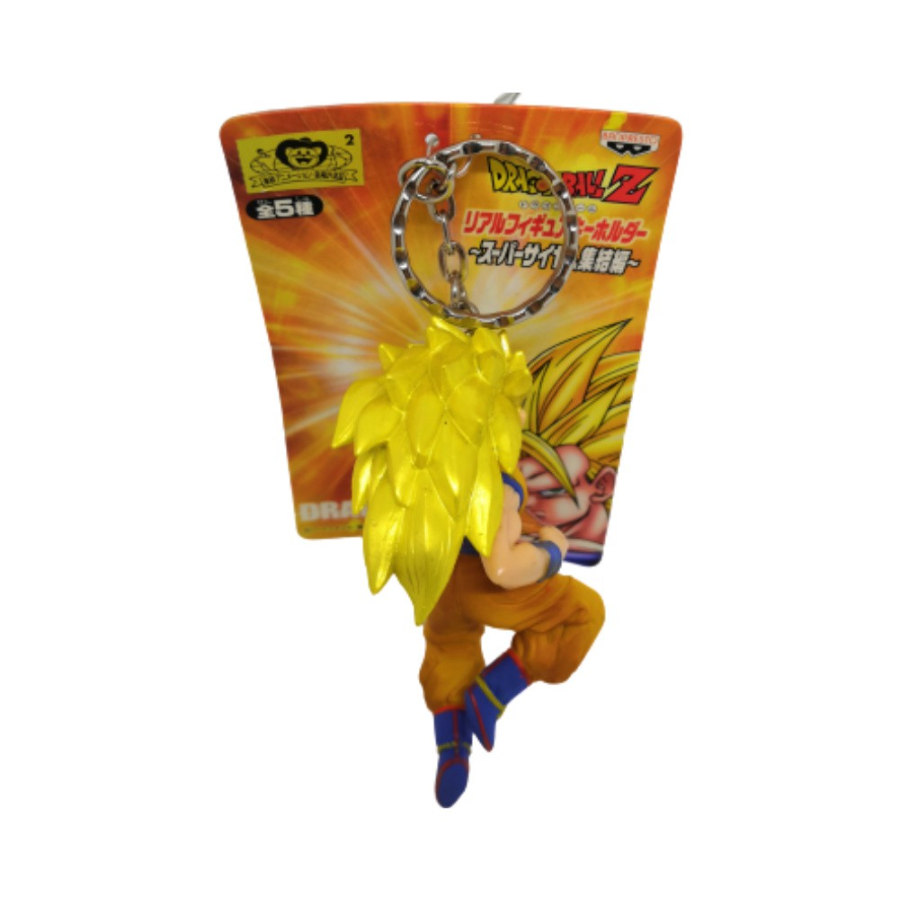 Chaveiro PVC Goku SSJ 3 - Dragon Ball Z DBZ - Banpresto - 9CM