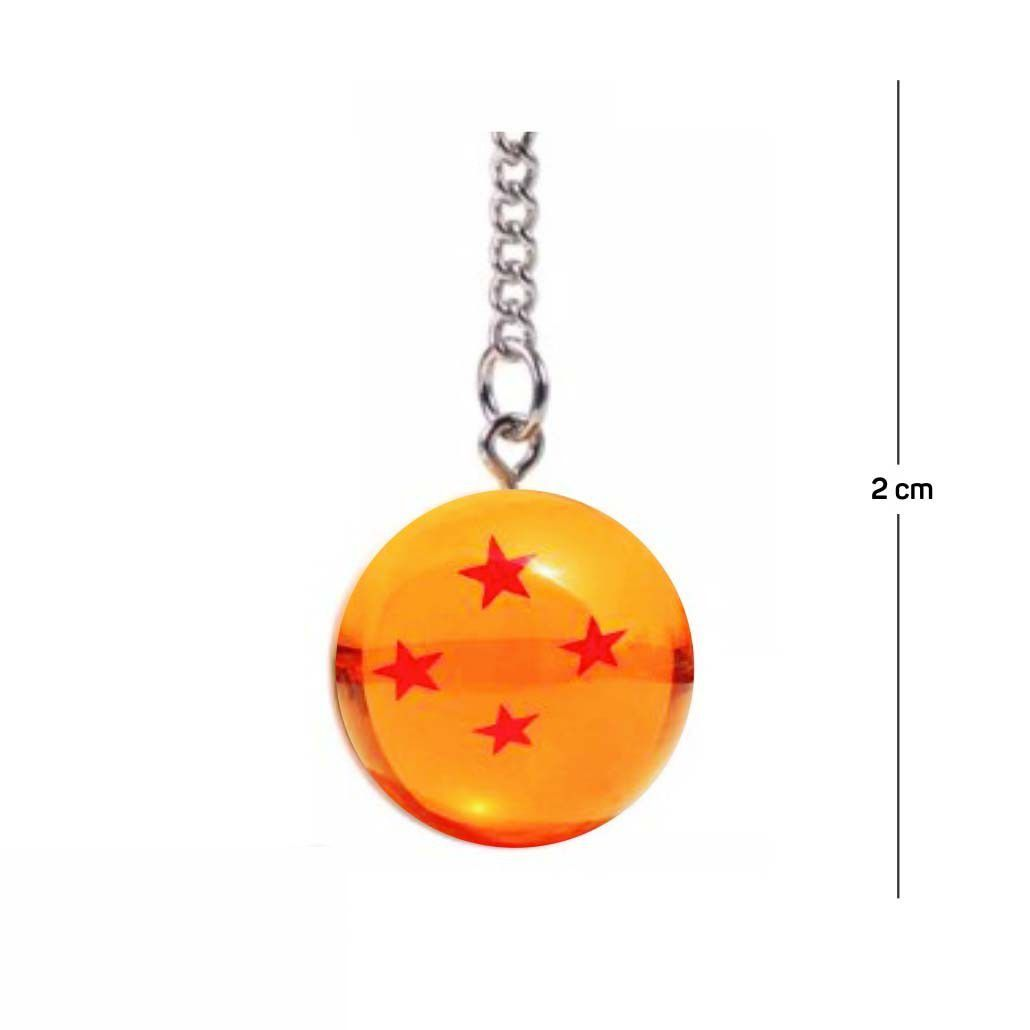 Chaveiro DBZ Esfera do Dragão 4 Estrelas