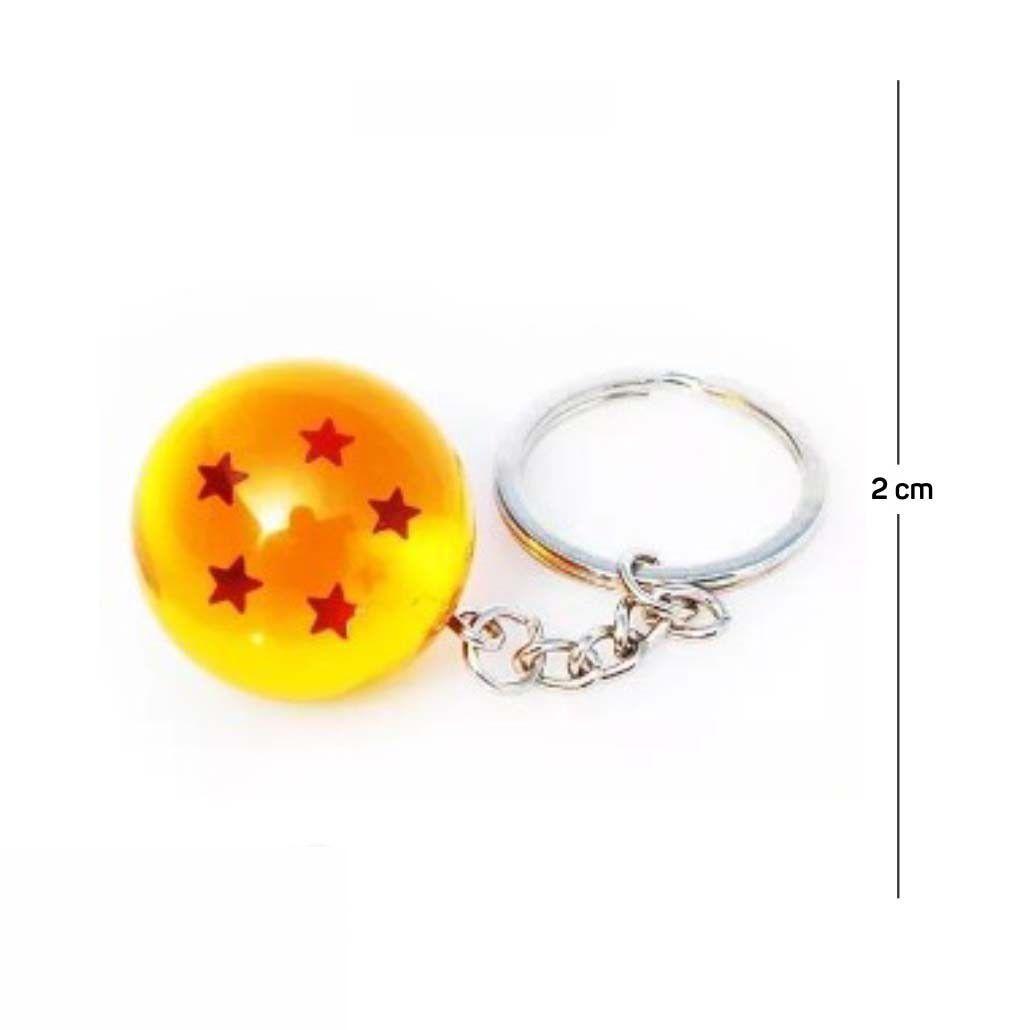 Chaveiro DBZ Esfera do Dragão 5 Estrelas