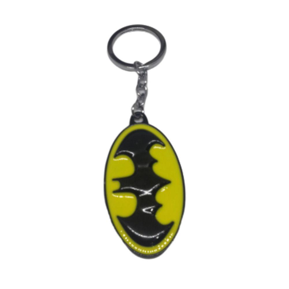 Chaveiro Metal Logo Batman - Liga Da Justiça - 7CM
