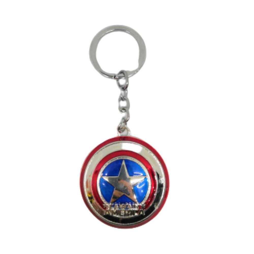 Chaveiro Metal Escudo Do Capitão América - Marvel - 7CM