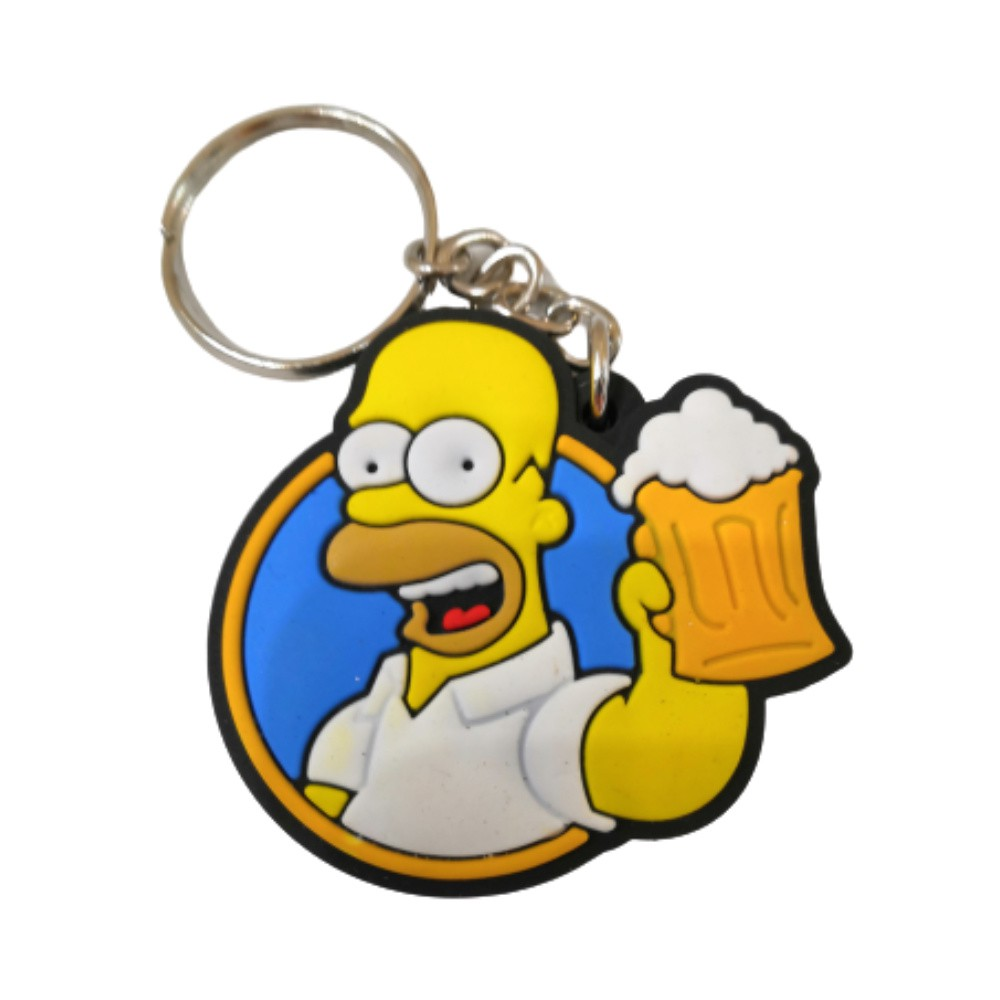 Chaveiro Emborrachado Homer Simpson - The Simpsons - 5CM