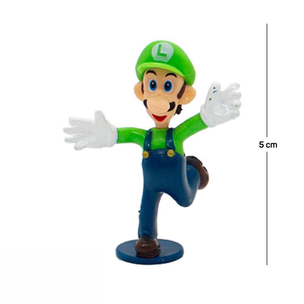 Chaveiro Mario Luigi Modelo 1 5CM PVC