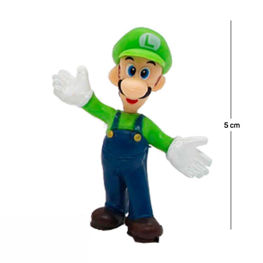 Chaveiro Mario Luigi Modelo 2 5CM PVC
