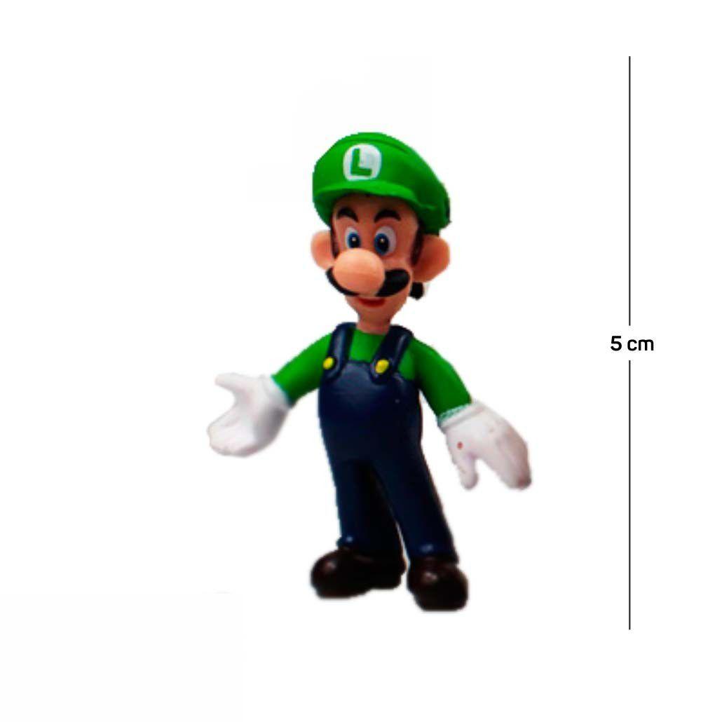 Chaveiro Mario Luigi Modelo 3 5CM PVC
