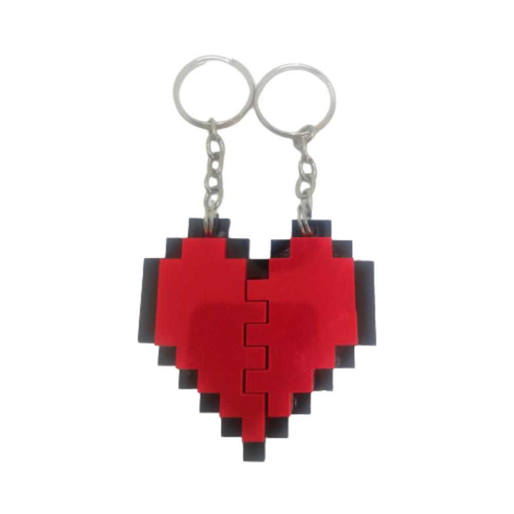 Chaveiro Acrílico Nosso Coração - Pixel - 5CM