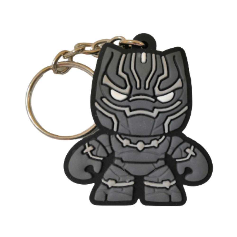 Chaveiro Emborrachado Pantera Negra - Marvel Vingadores - 5CM