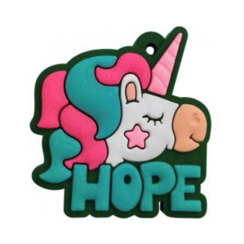 Chaveiro Emborrachado Unicórnio Hope - 4CM