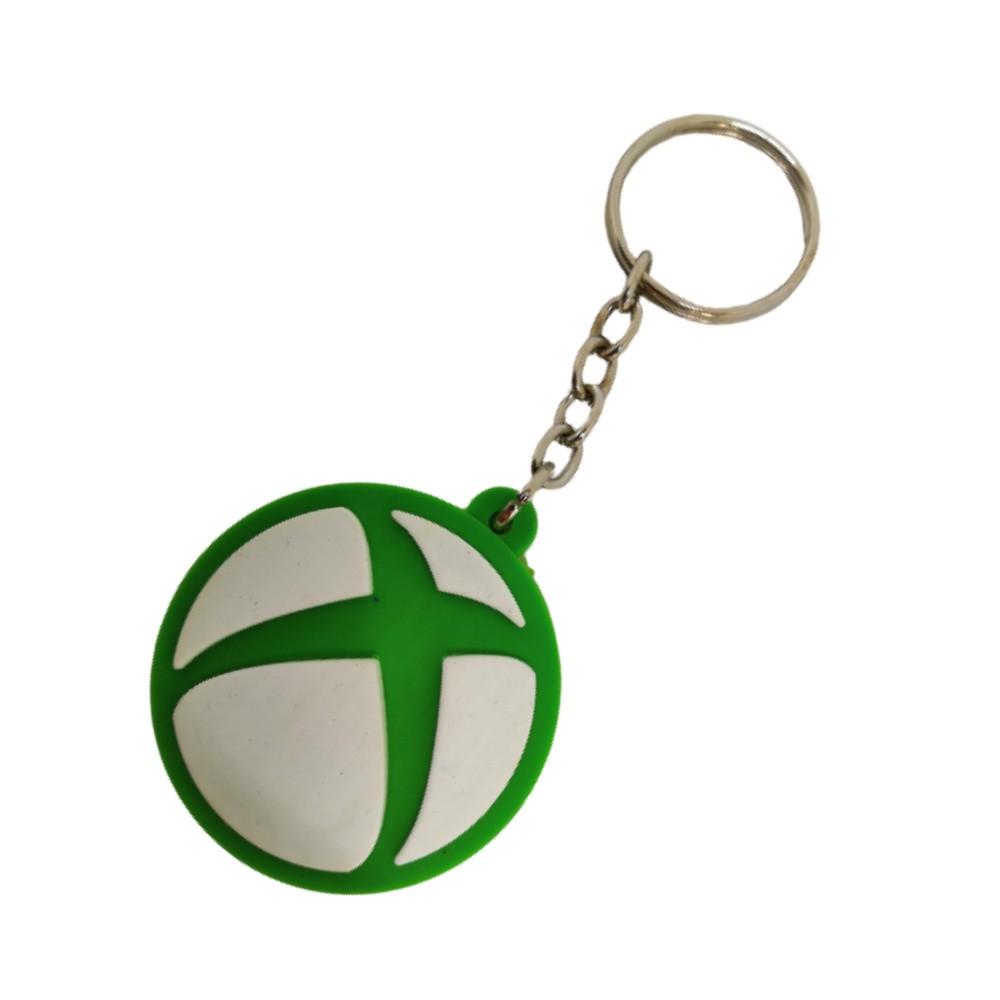 Chaveiro Emborrachado Símbolo Xbox - 5CM