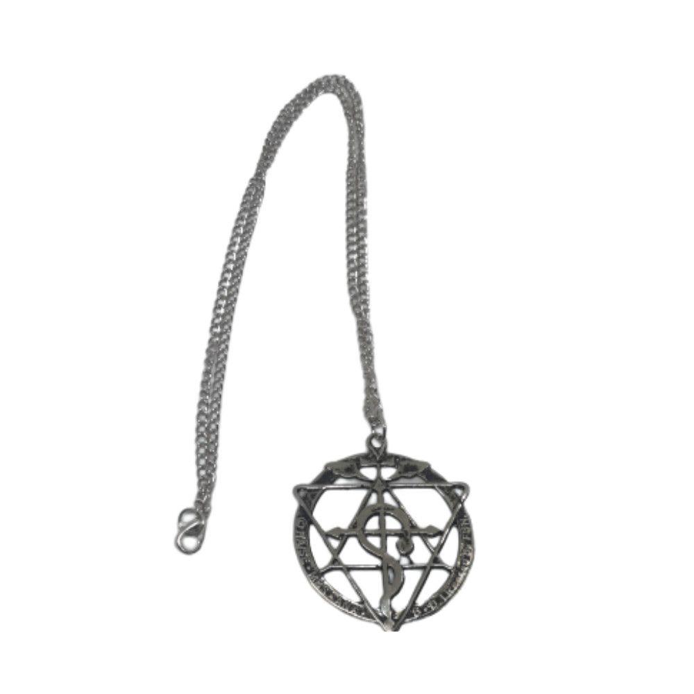 Colar Cruz Flamel E Circulo De Transmutação - Fullmetal Alchemist