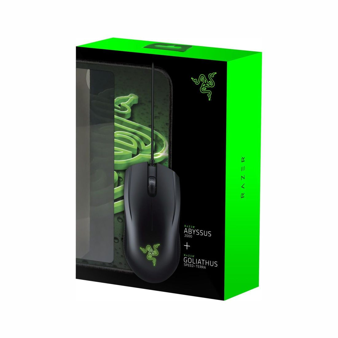 Combo Gamer Mouse Abyssus Green 2000 Dpi + Mouse pad Goliathus - Razer