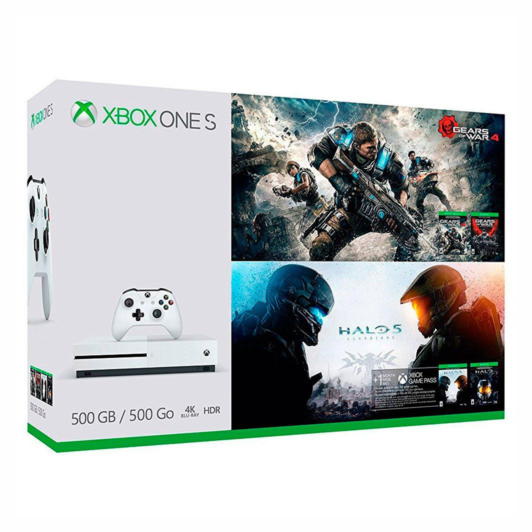 Console Microsoft Xbox One S 500GB Bundle Gears of War 4 + Halo 5