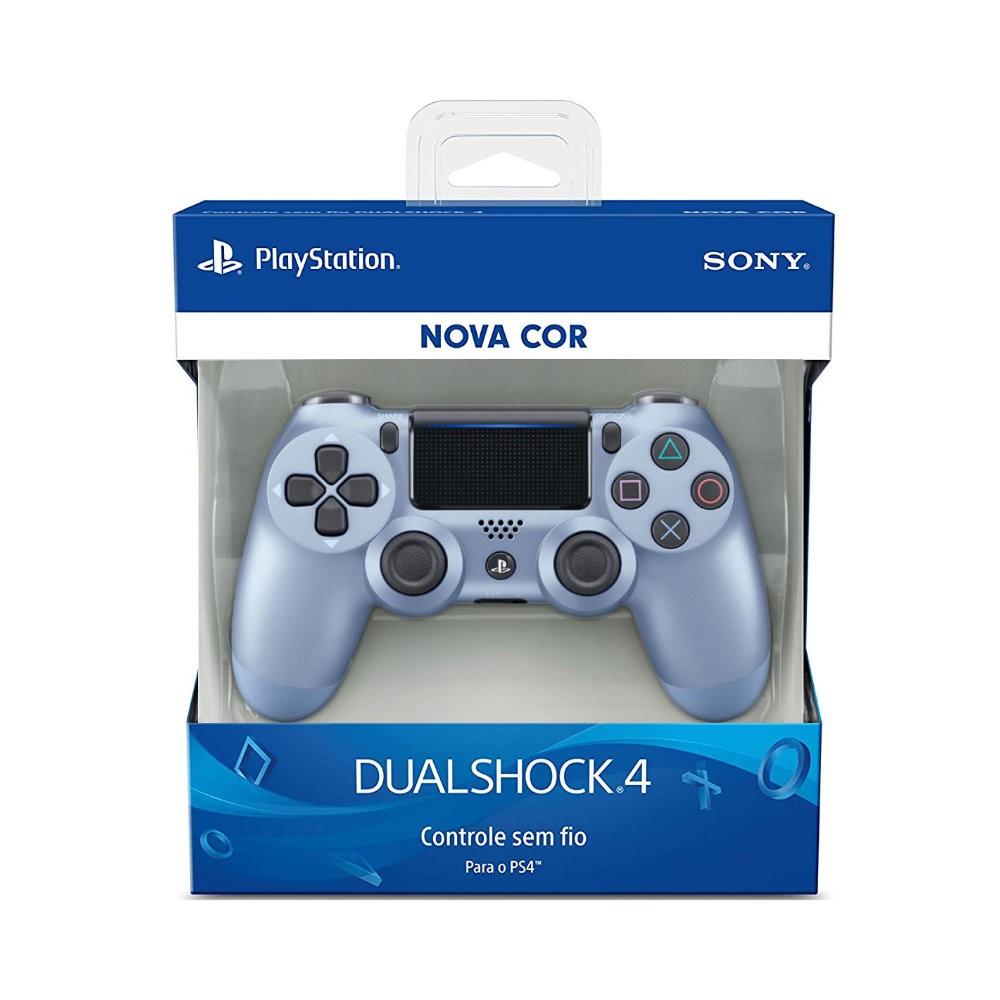 Controle Sony Dualshock 4 Titanium Blue Sem Fio