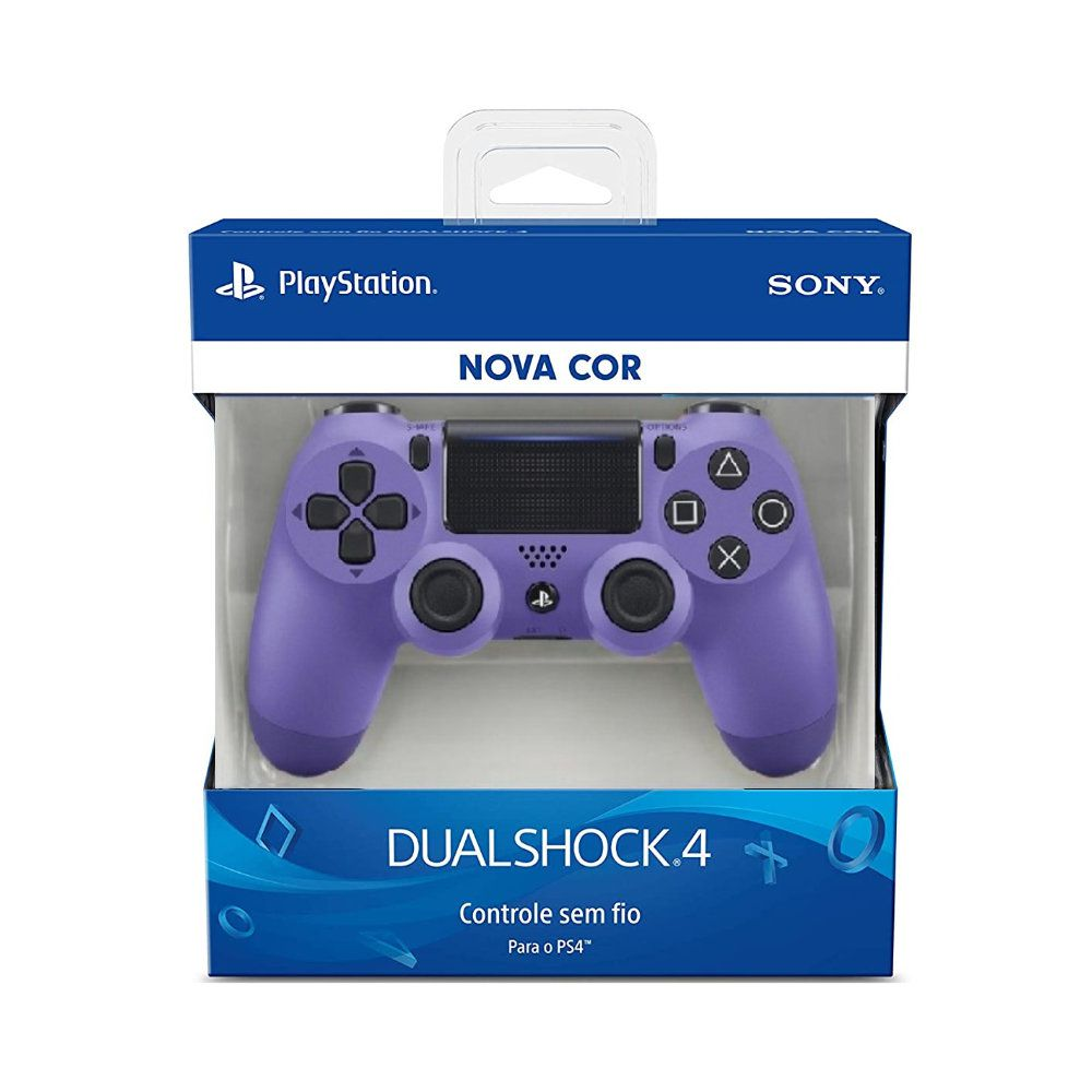 Controle Sony Dualshock 4 Electric Purple Sem Fio
