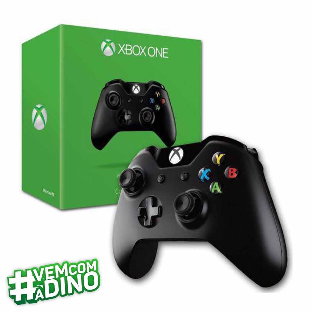 Controle Xbox One Microsoft Sem Fio Preto