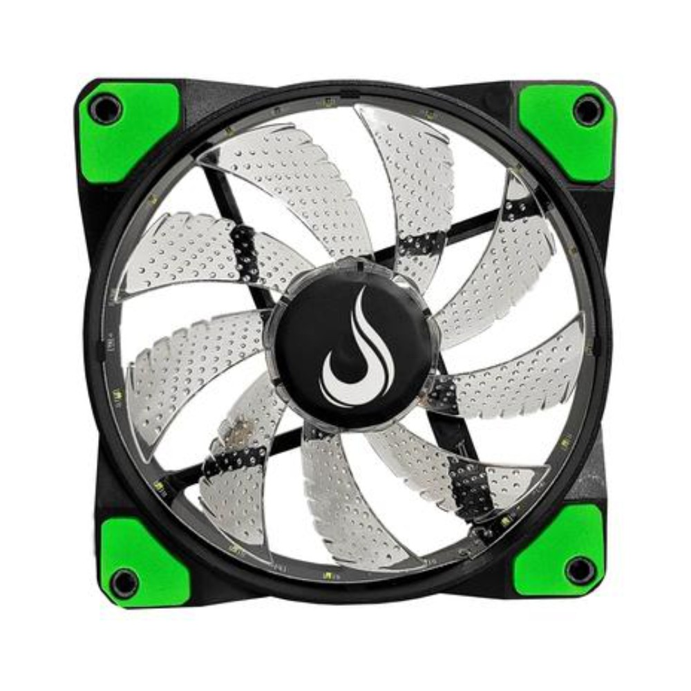 Cooler FAN Rise Mode Wind W1, 120mm, LED Verde - RM-WN-01-B
