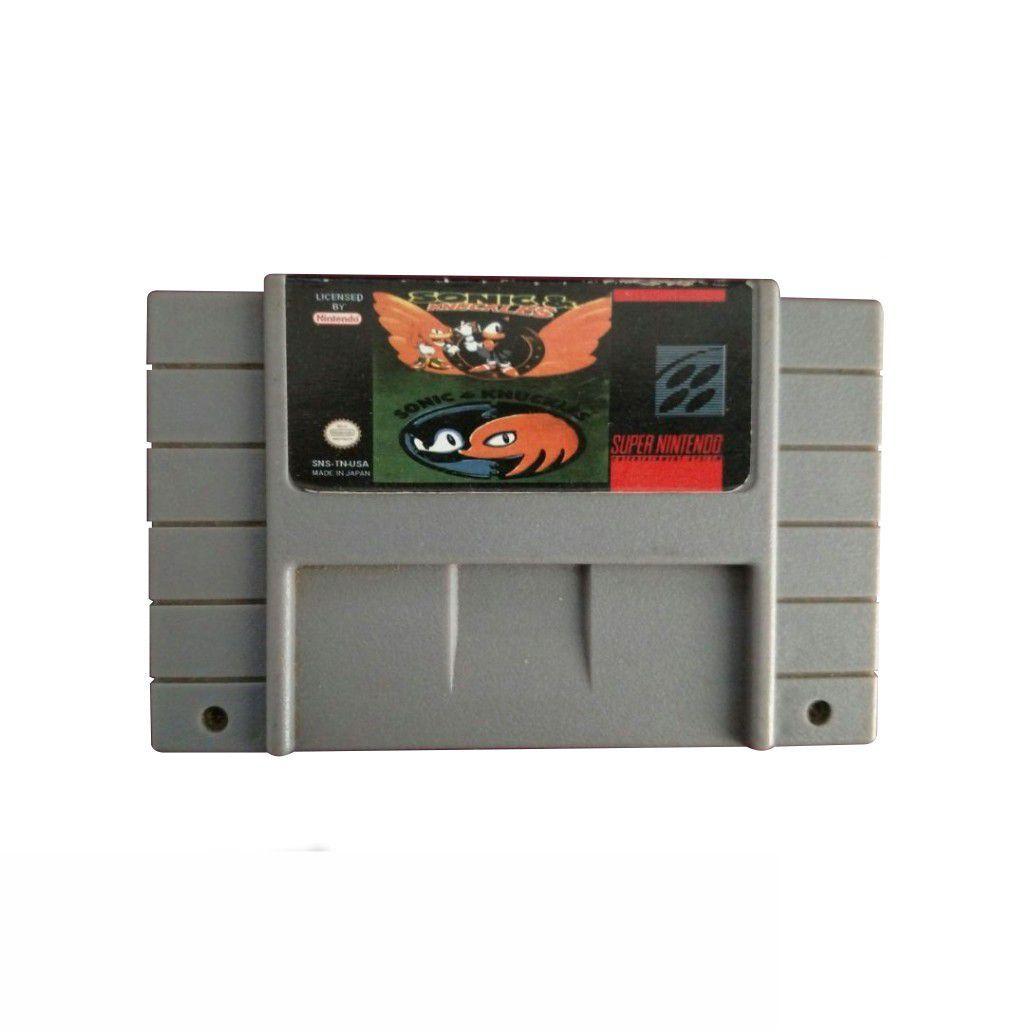 Fita Paralela Sonic Knuckles Super Nintendo